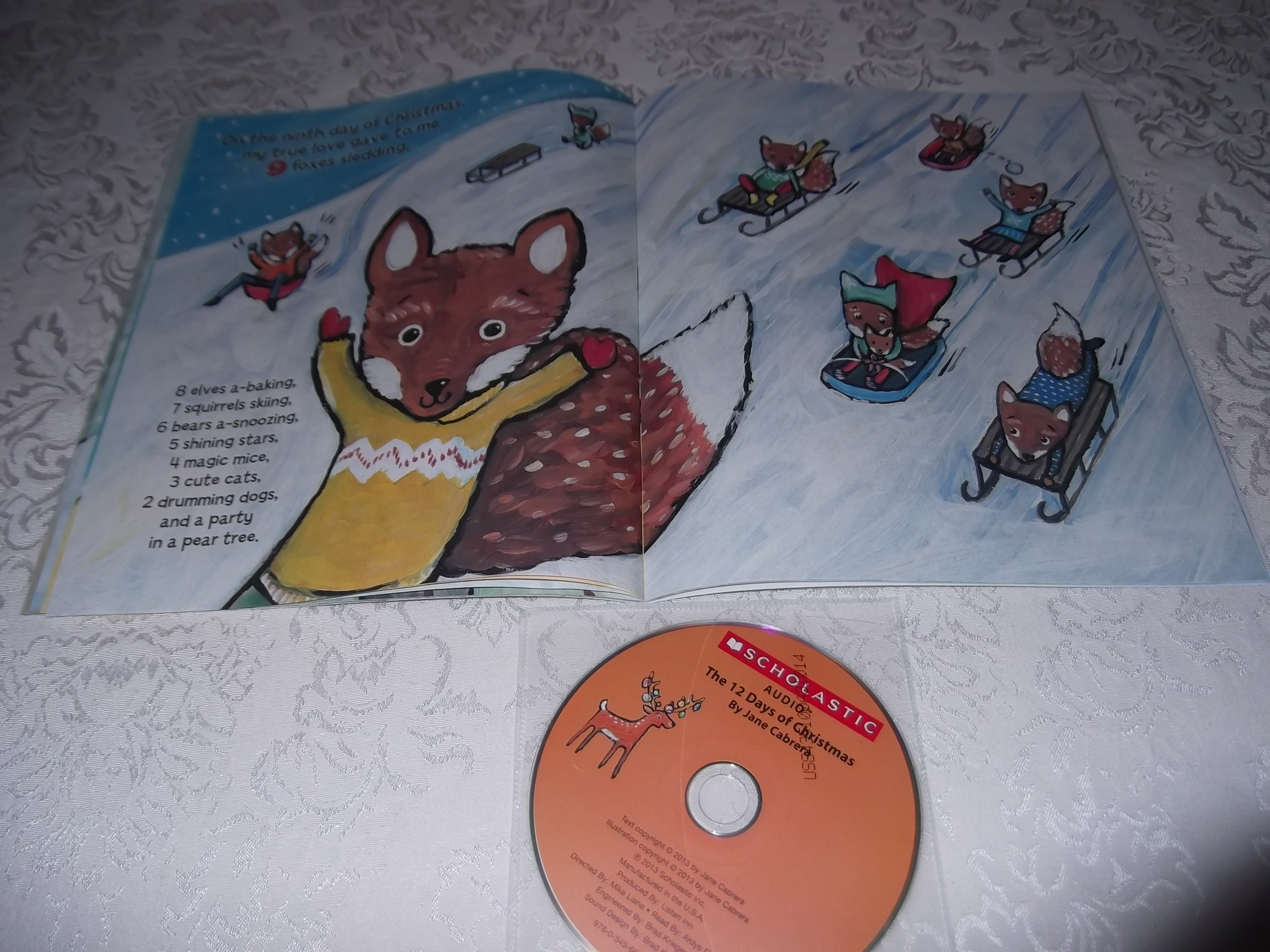Image 6 of The 12 Days of CHRISTMAS Jane Cabrera Brand New Audio CD and Softcover