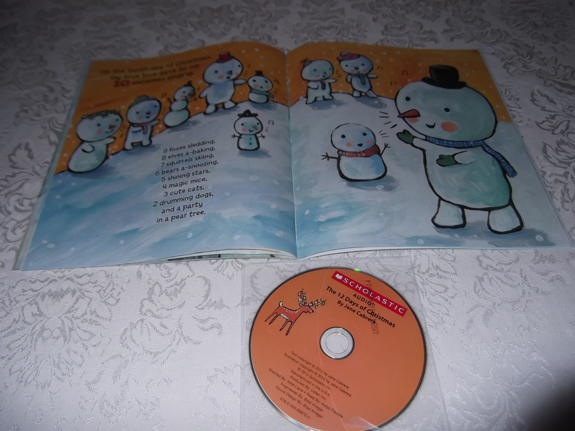 Image 5 of The 12 Days of CHRISTMAS Jane Cabrera Brand New Audio CD and Softcover