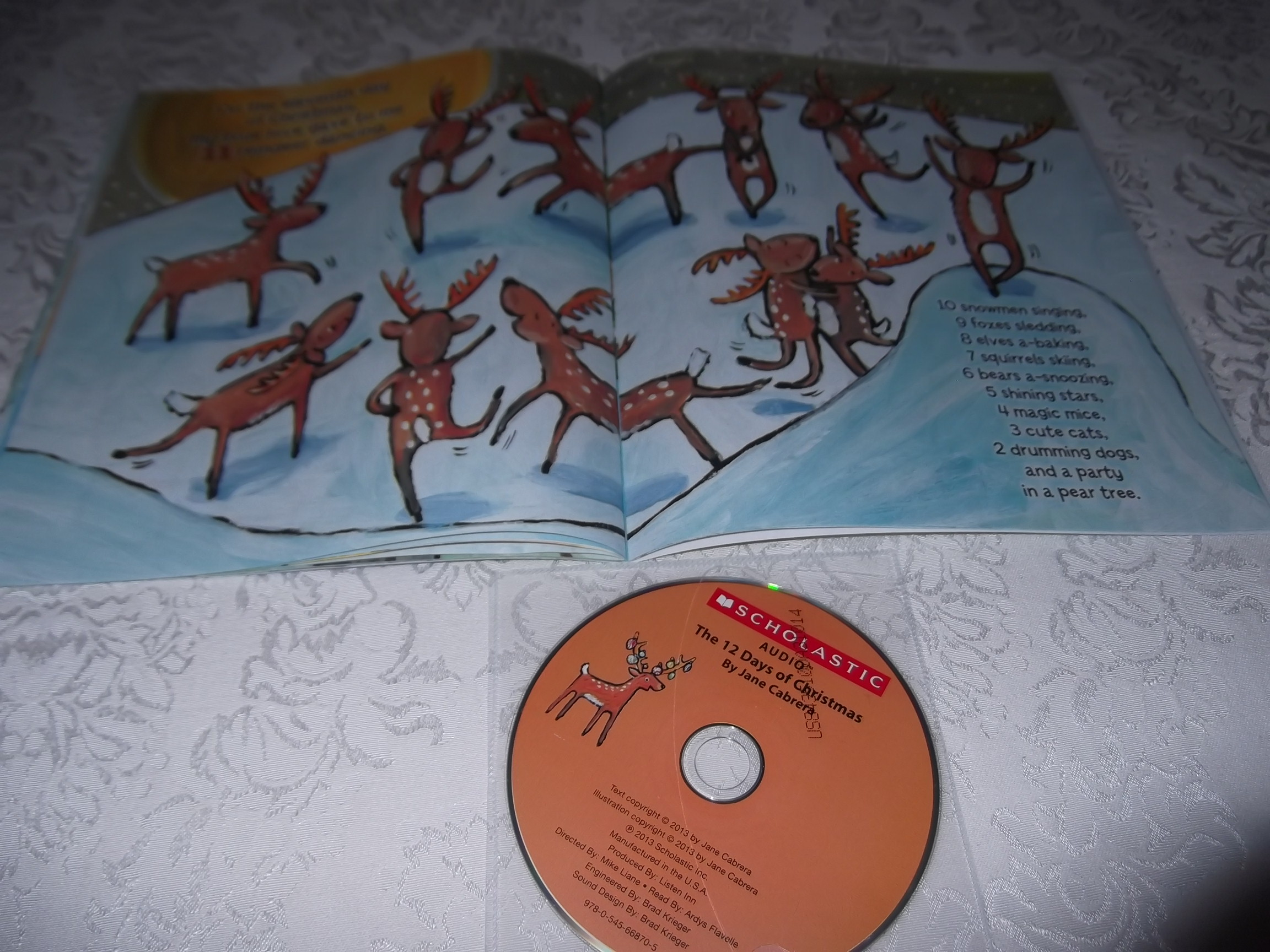 Image 4 of The 12 Days of CHRISTMAS Jane Cabrera Brand New Audio CD and Softcover