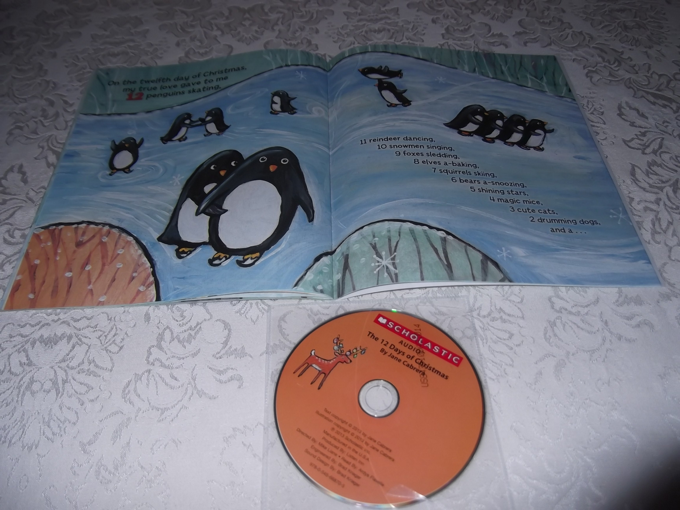Image 3 of The 12 Days of CHRISTMAS Jane Cabrera Brand New Audio CD and Softcover