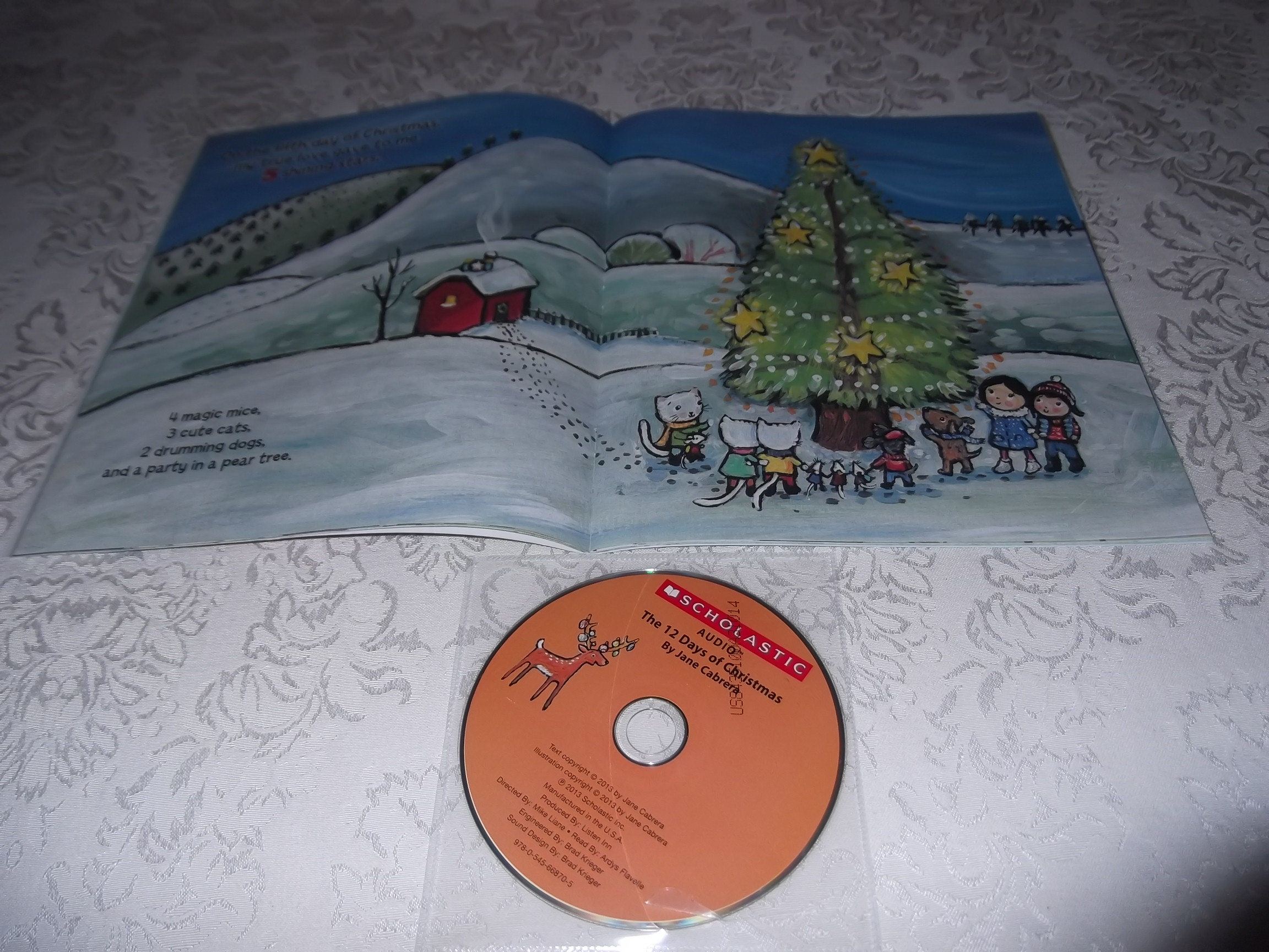 Image 10 of The 12 Days of CHRISTMAS Jane Cabrera Brand New Audio CD and Softcover