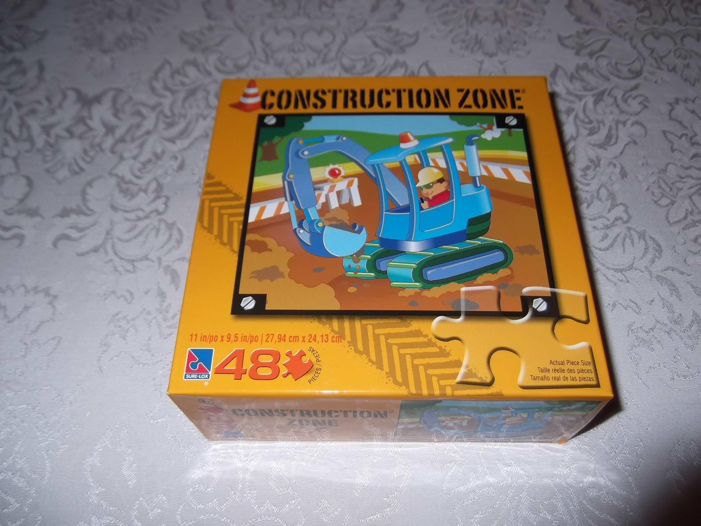 Construction Zone Excavator Puzzle 48 Piece, 8.5 x 11 inches New in Box