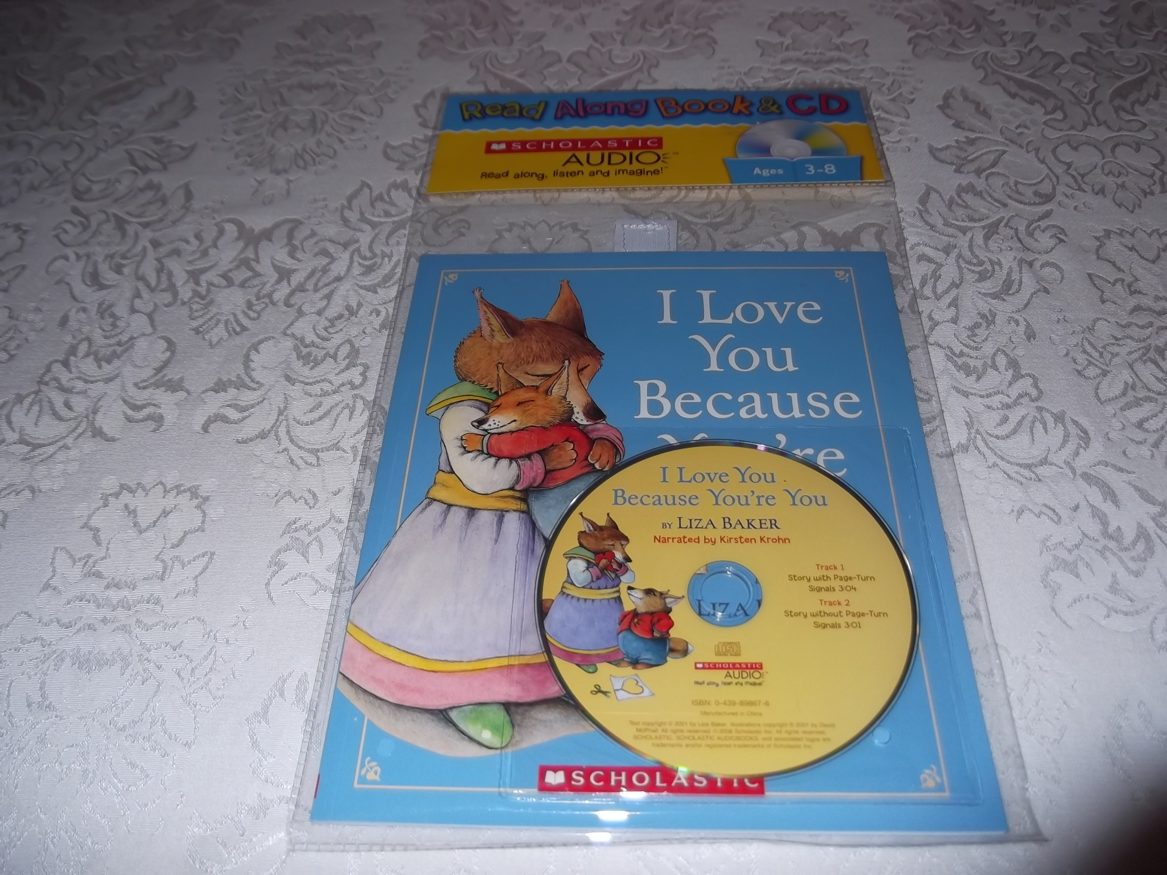 I Love You Because You're You Liza Baker Scholastic Audio CD and SC New