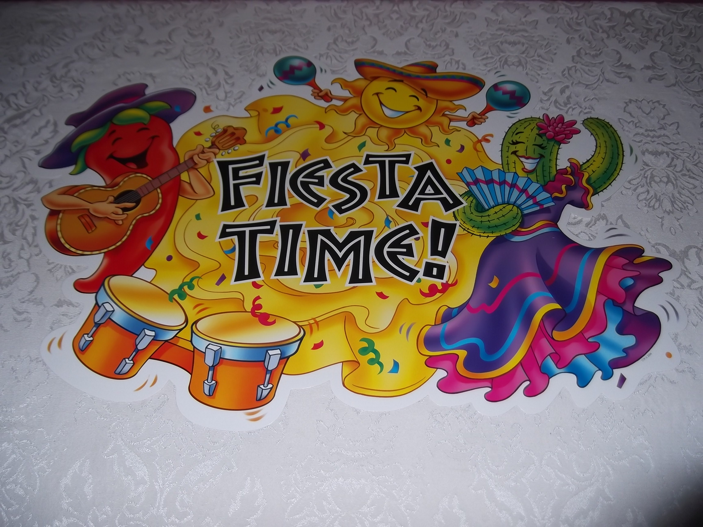 Bulletin Board Set With 20 Pieces Quot Fiesta Time Quot Ctp 1695