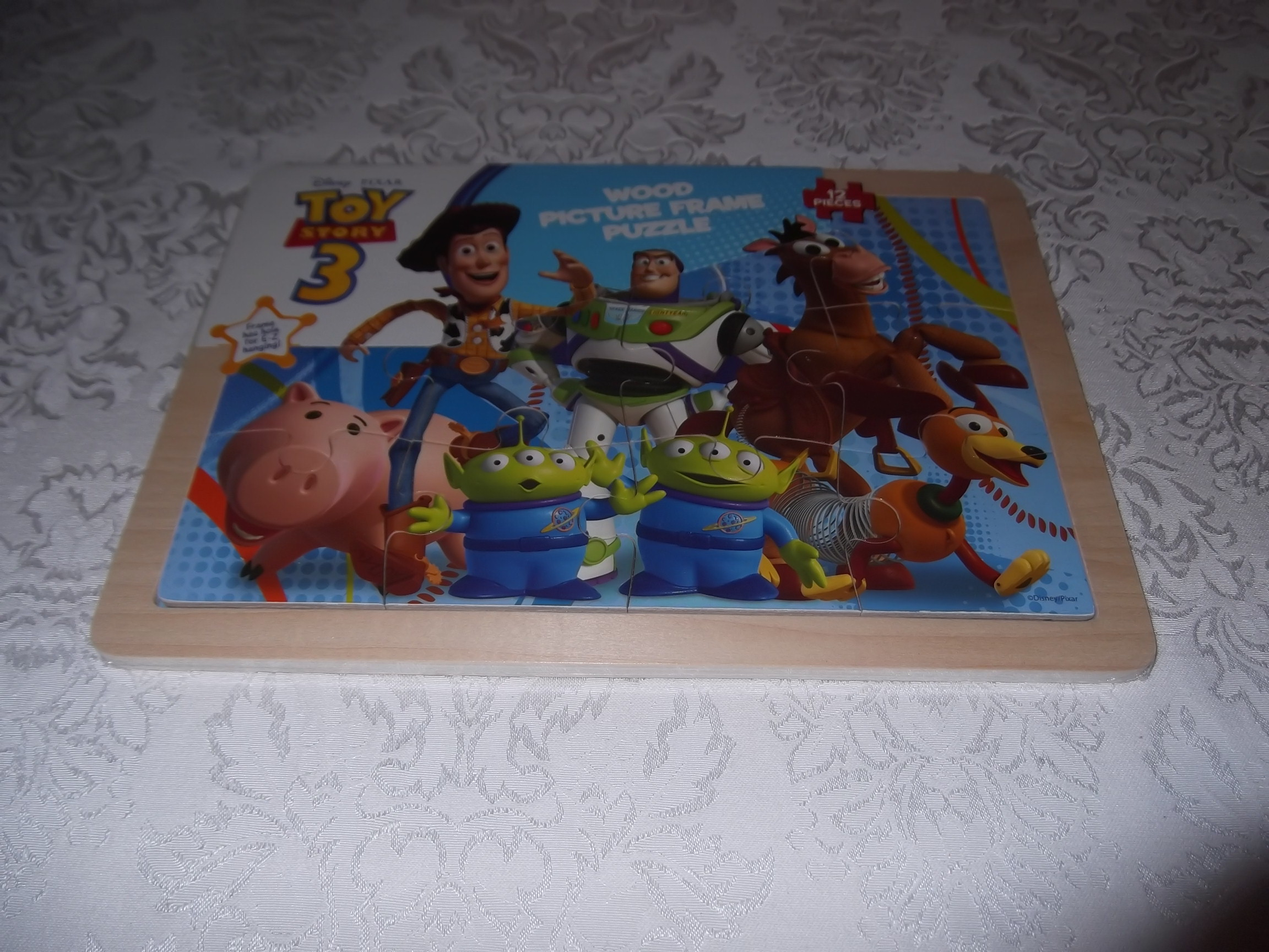 Disney PIXAR Toy Story 3 Wooden Puzzle 12 Pieces 8.5 x 11.75 inches NEW