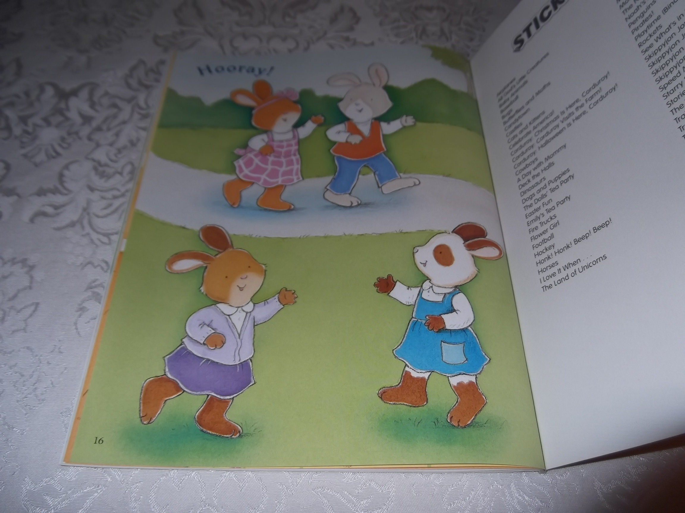 Image 10 of Emily's Tea Party Sticker Stories Claire Masurel Brand New with 75+ Stickers