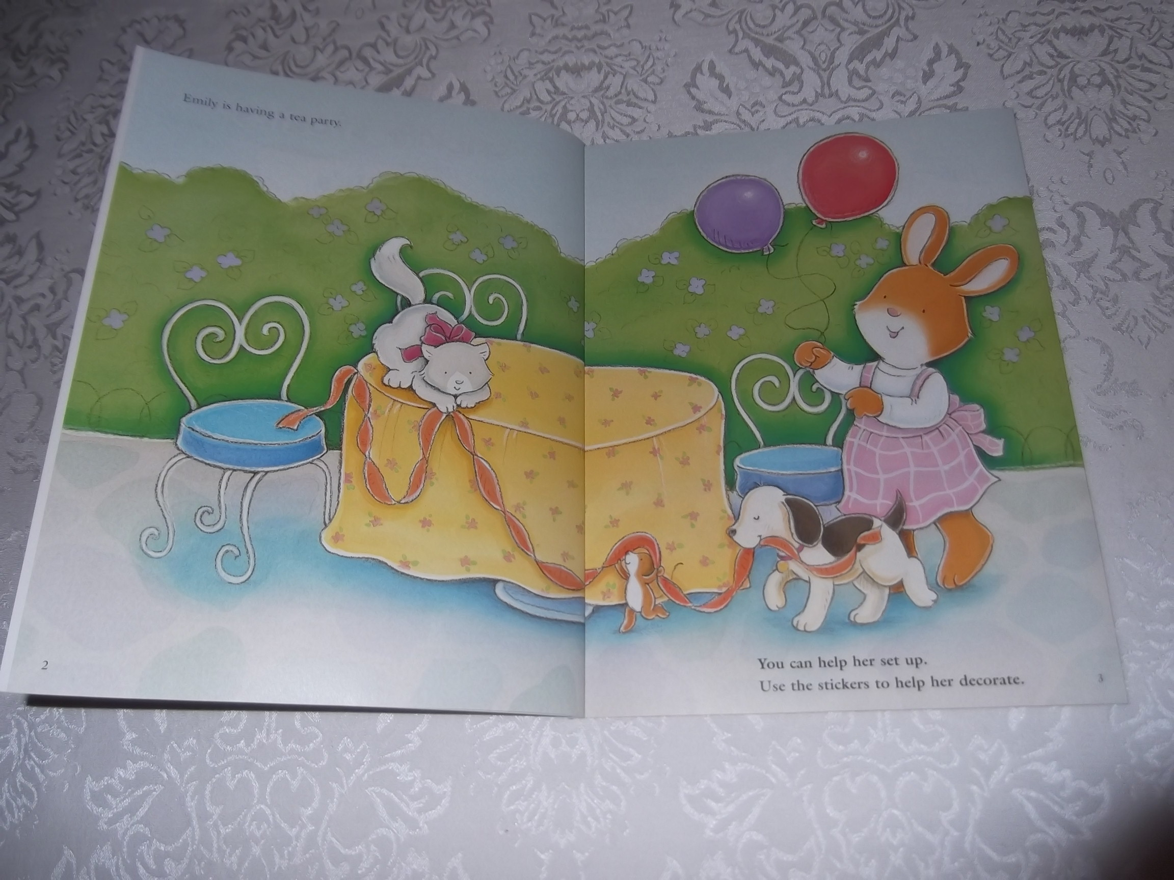 Image 1 of Emily's Tea Party Sticker Stories Claire Masurel Brand New with 75+ Stickers