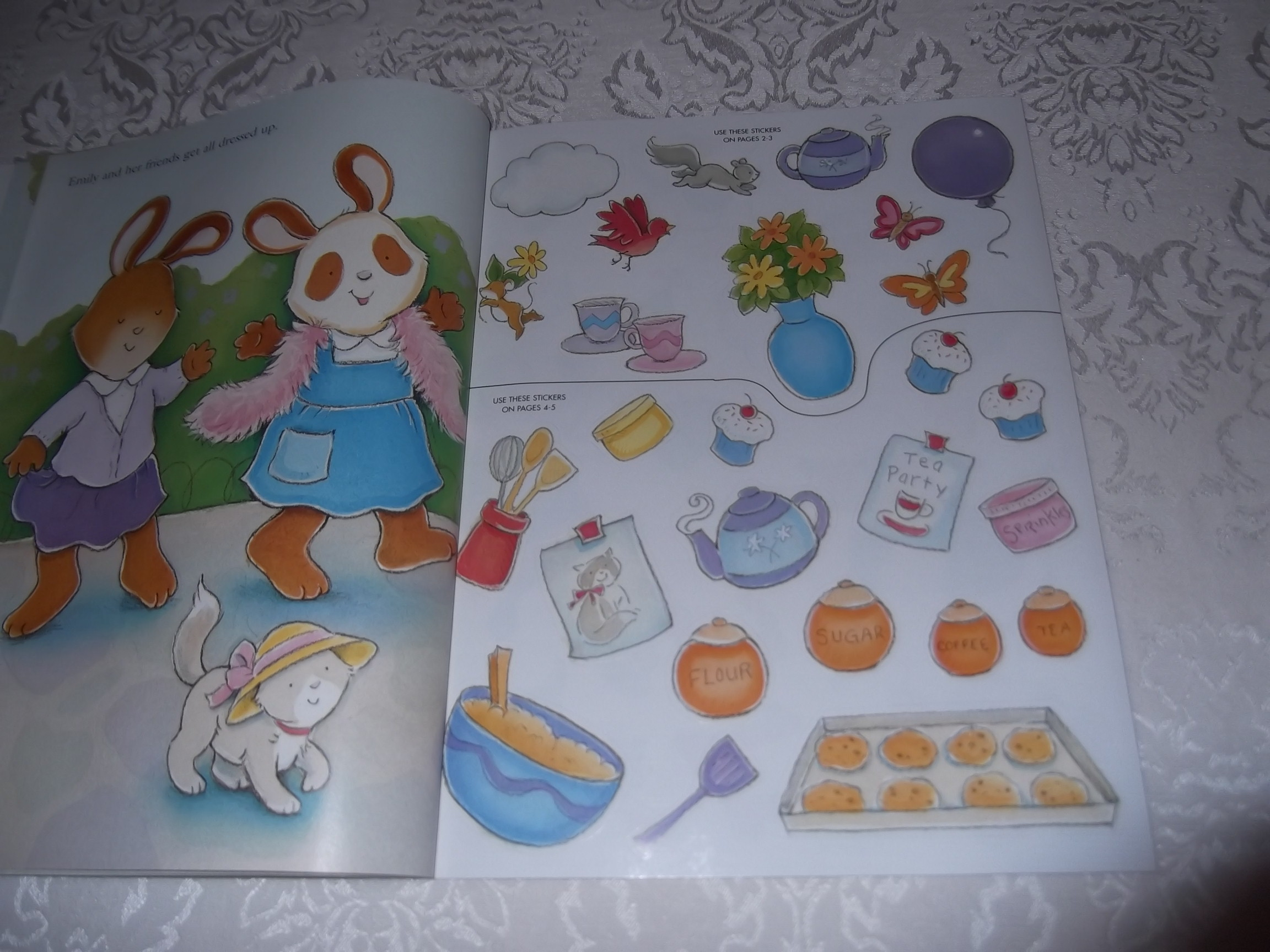 Image 3 of Emily's Tea Party Sticker Stories Claire Masurel Brand New with 75+ Stickers