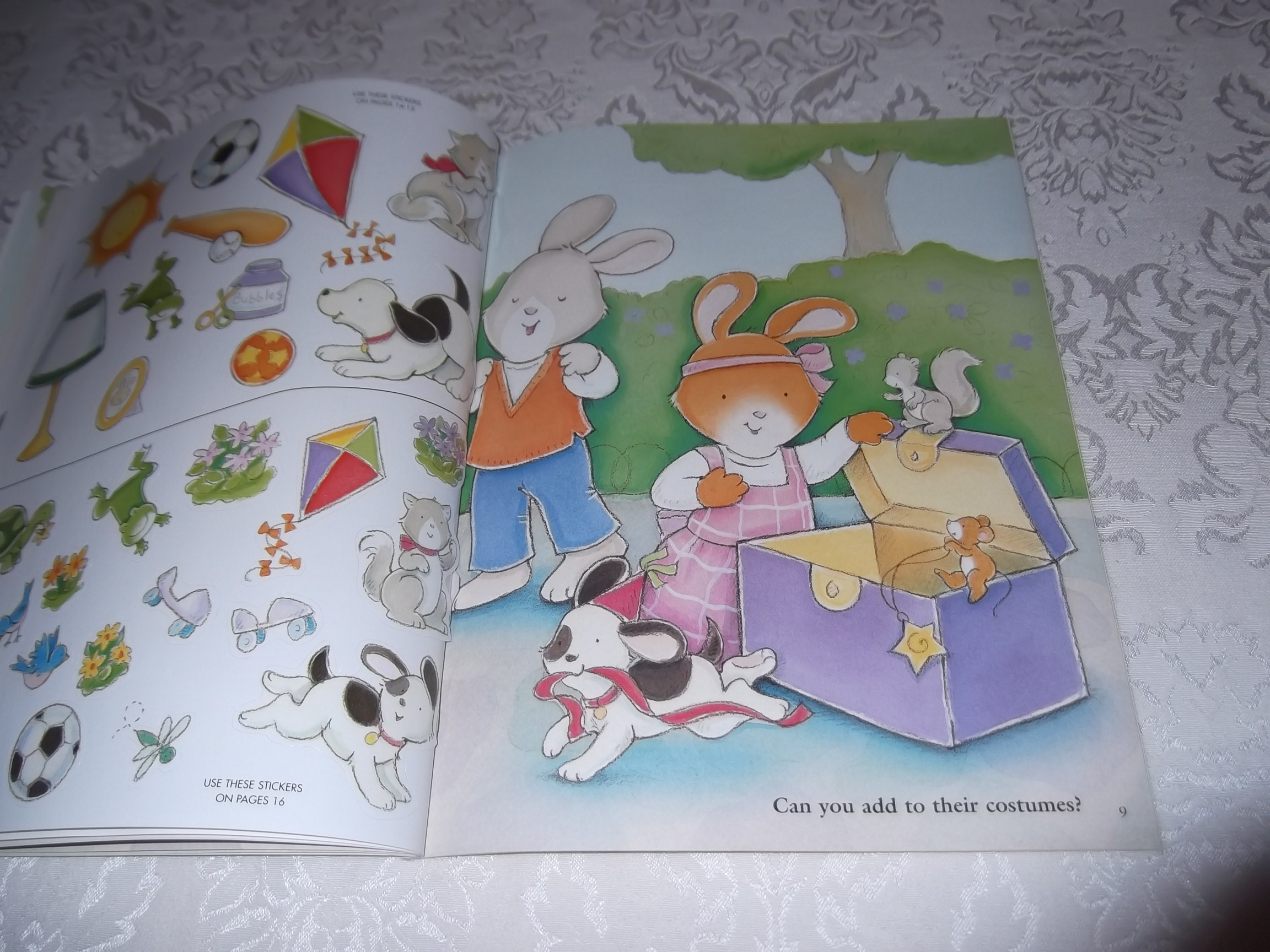 Image 6 of Emily's Tea Party Sticker Stories Claire Masurel Brand New with 75+ Stickers