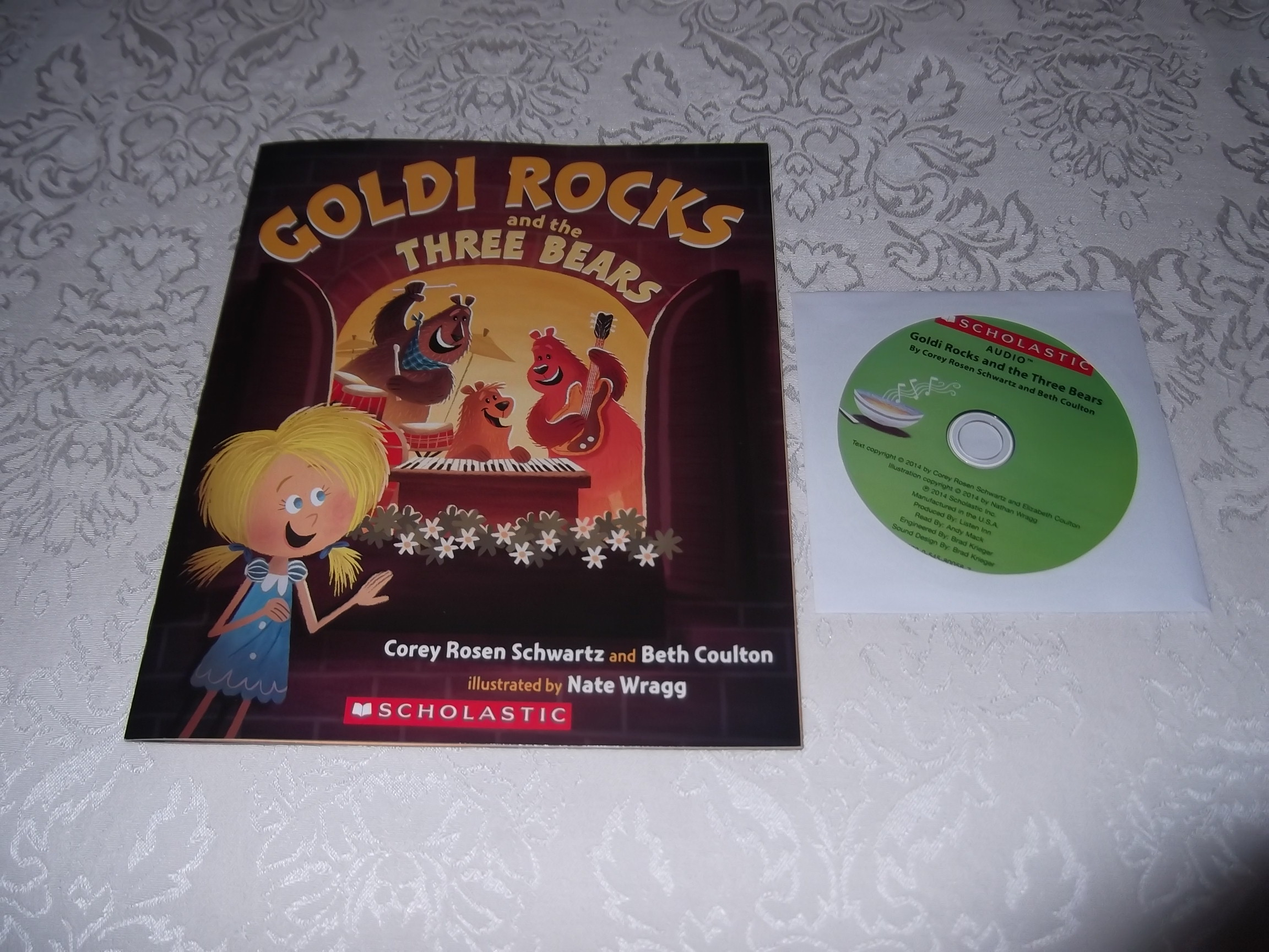 Goldi Rocks and the Three Bears Schwartz Coulton Brand New Audio CD and Book Set