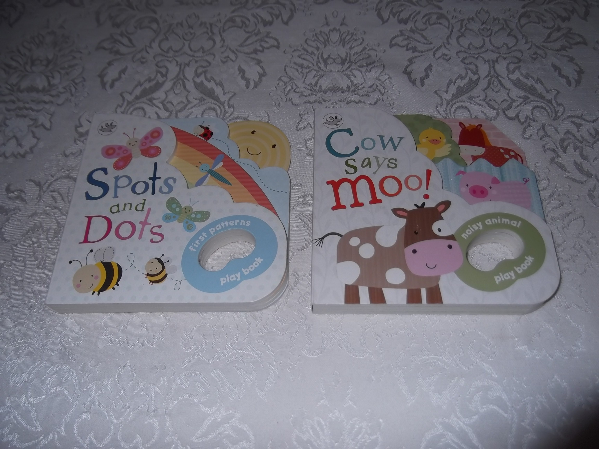 Spots and Dots Cow Says Moo! Little Learners Brand New Board Book Set