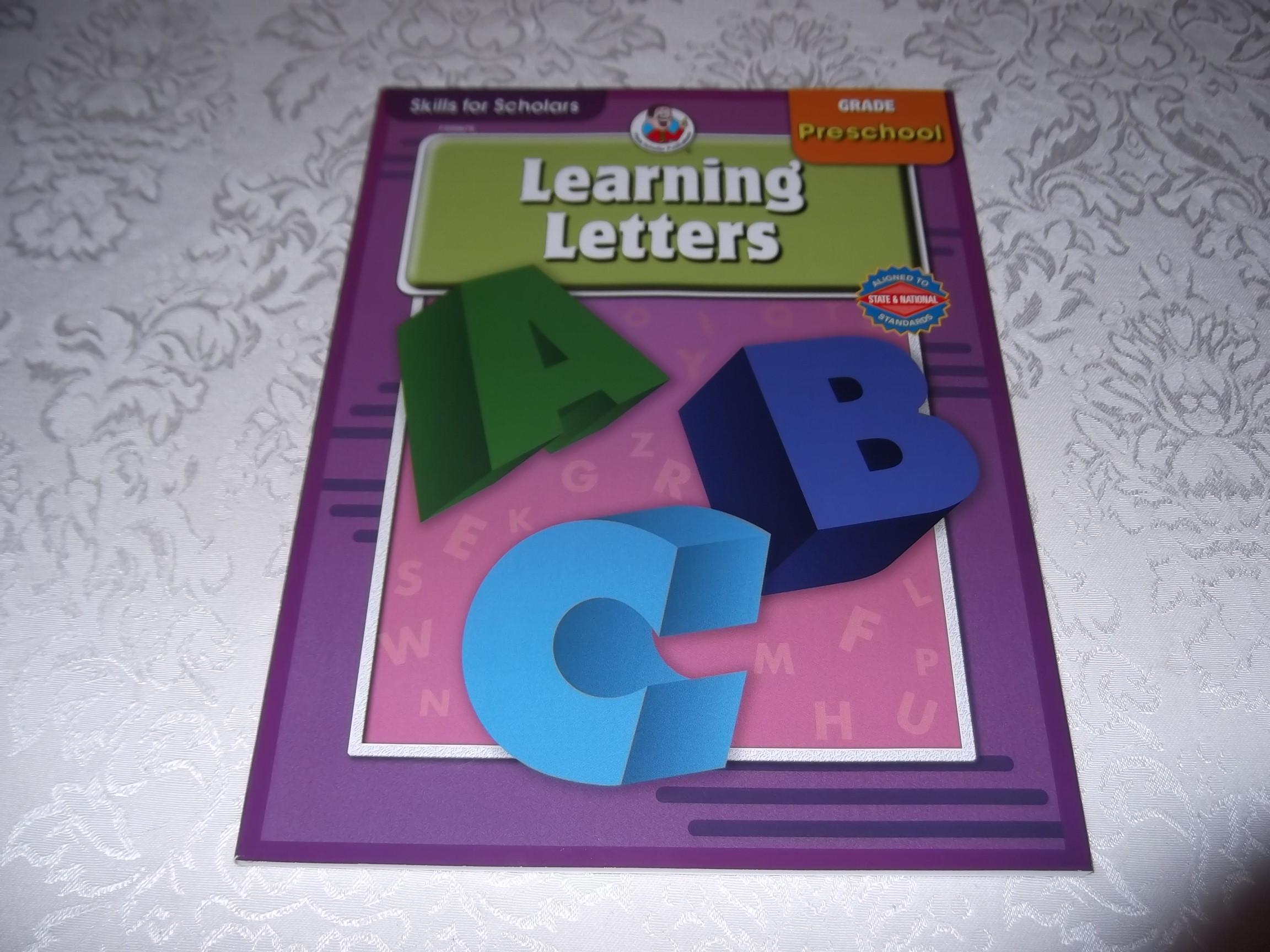 Learning Letters Skills for Scholars Preschool Frank Schaffer Brand New