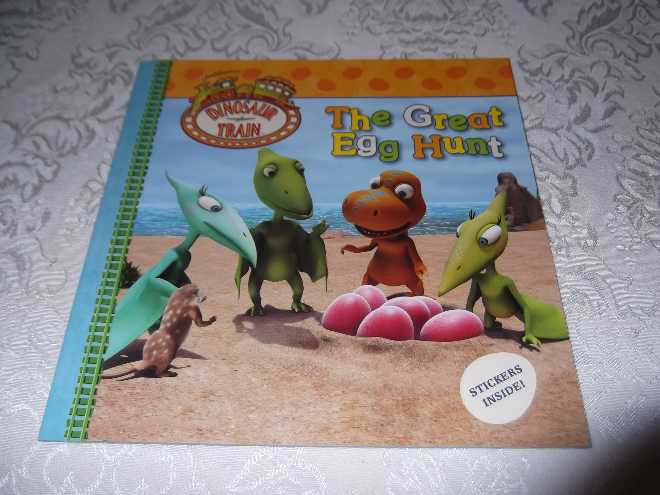 Dinosaur Train The Great Egg Hunt Brand New Softcover with Stickers