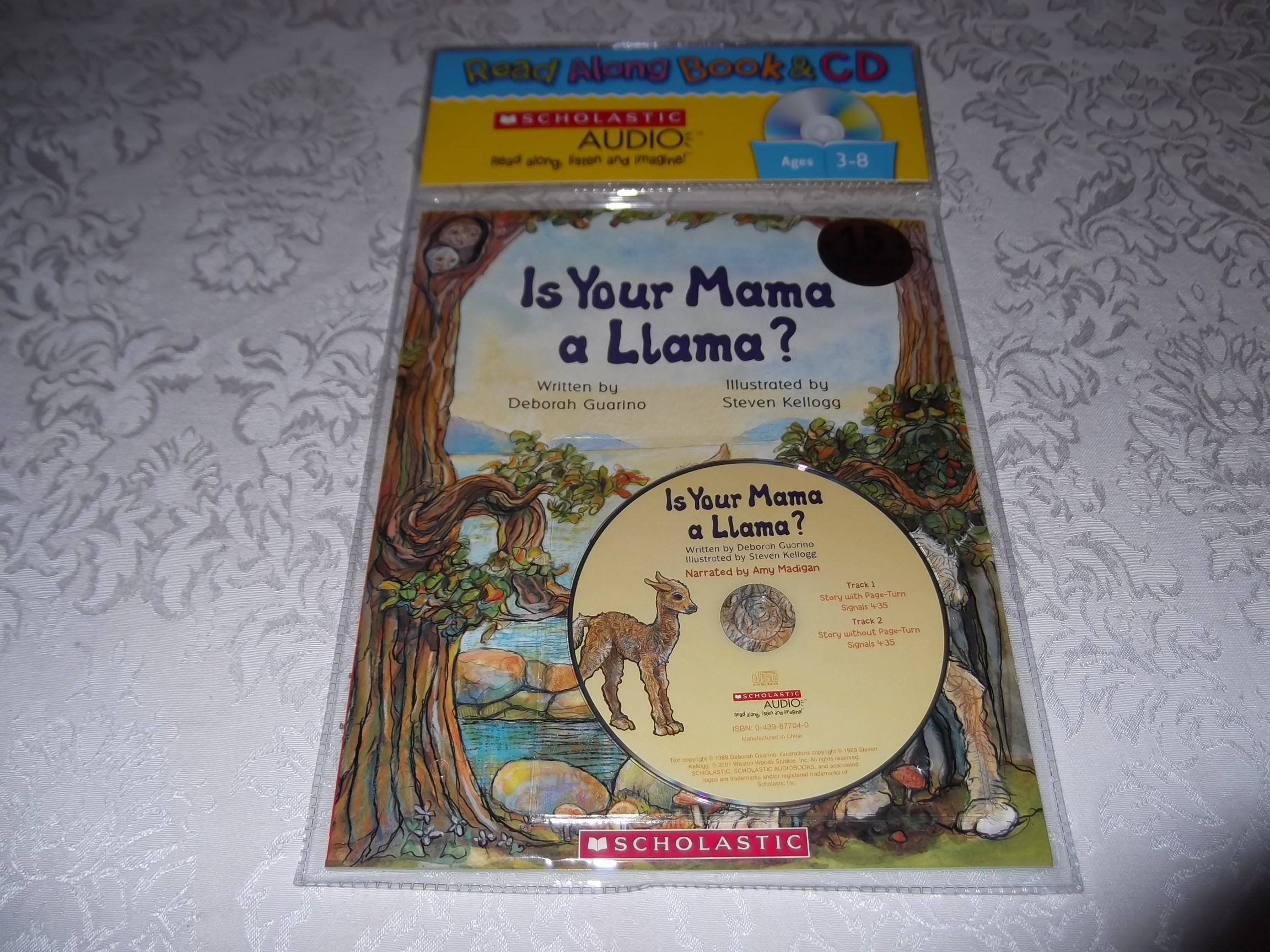 Is Your Mama A Llama? Deborah Guarino Read Along Audio CD & Softcover Set