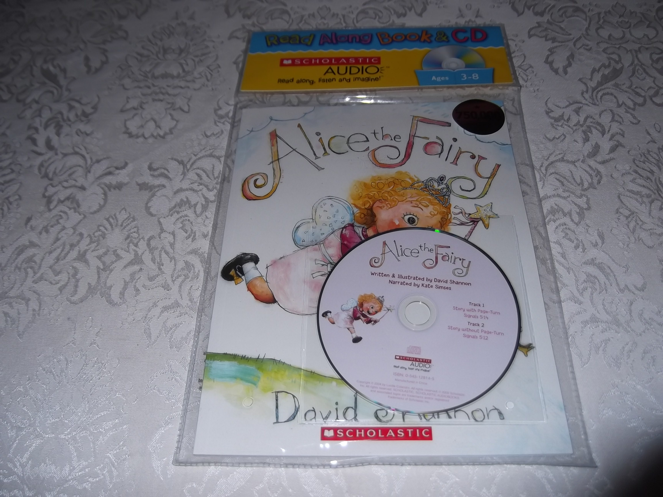 Alice the Fairy David Shannon Read Along Audio CD & Softcover Set