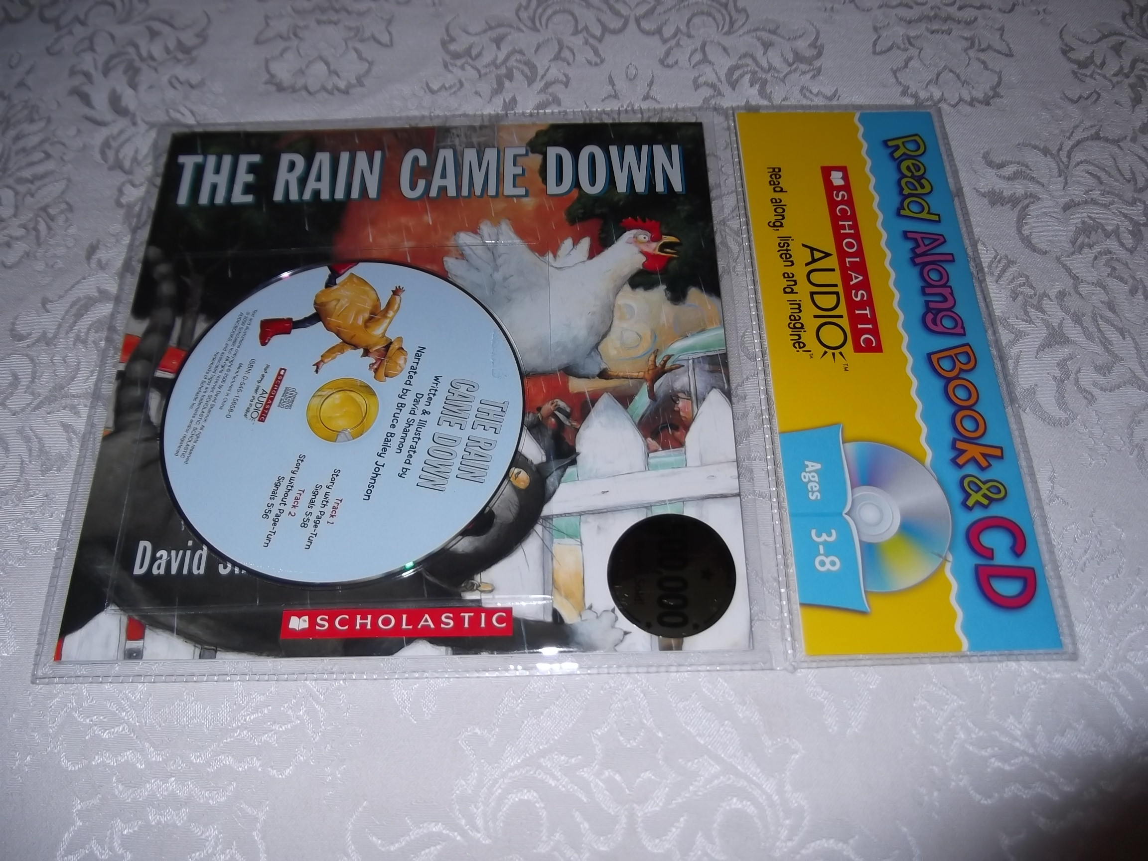The Rain Came Down David Shannon Read Along Audio CD & Softcover Set