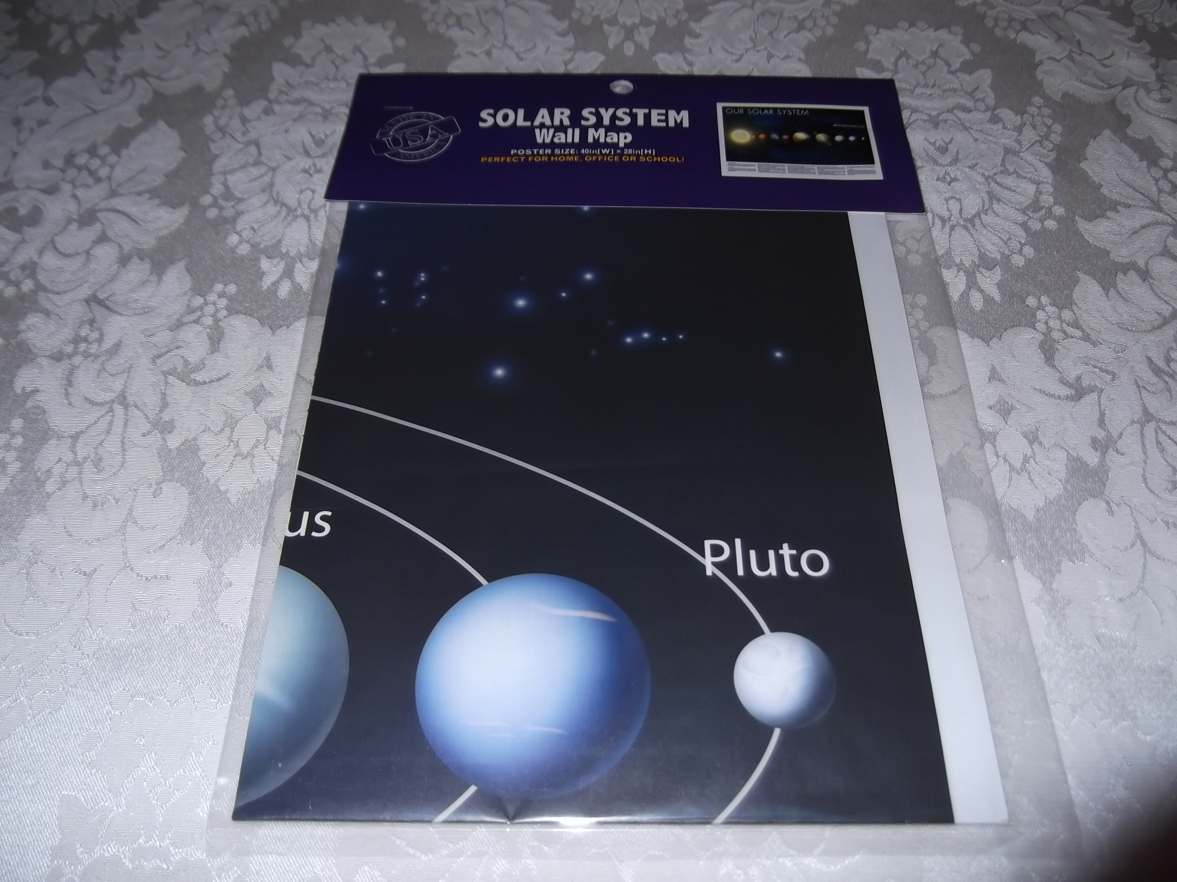 Solar System Wall Map Poster 40 (W) x 28 (H) Kappa Brand New
