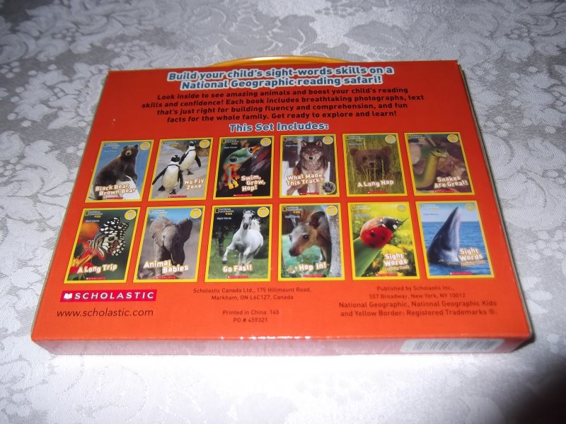 Image 1 of National Geographic Kids Sight Words 12 Book Reader Lot Boxed Set #2