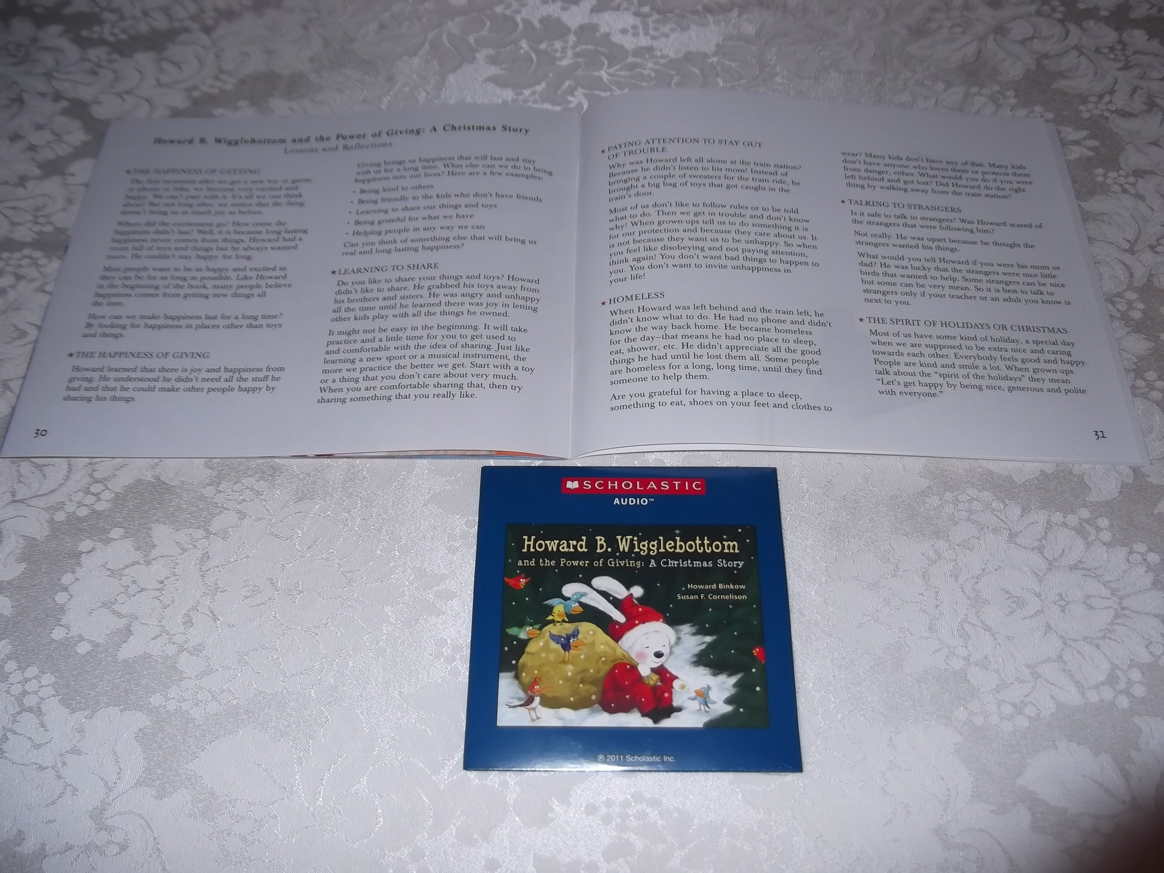 Image 1 of Howard B. Wigglebottom and the Power of Giving: A Christmas Story Audio CD & SC