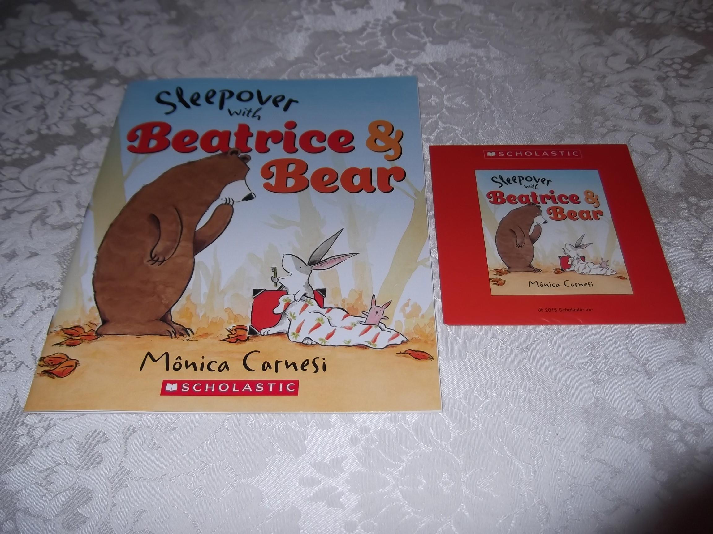 Sleepover with Beatrice & Bear Monica Carnesi Audio CD and SC Brand New