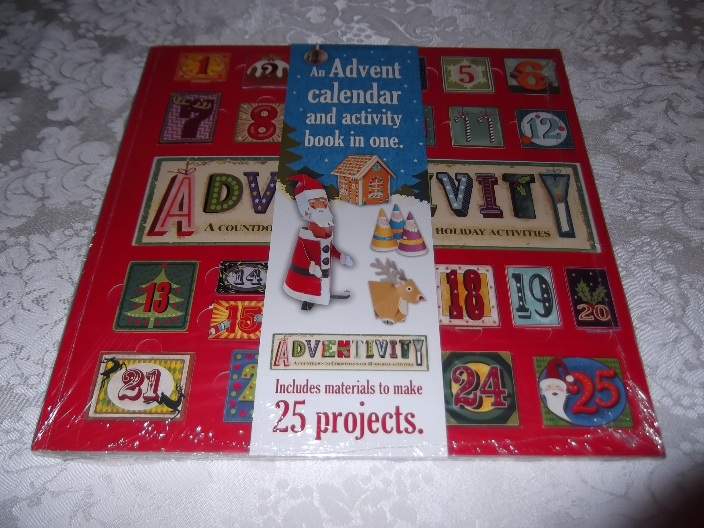 Adventivity A Countdown to Christmas with 25 Holiday Activities Project Book NEW
