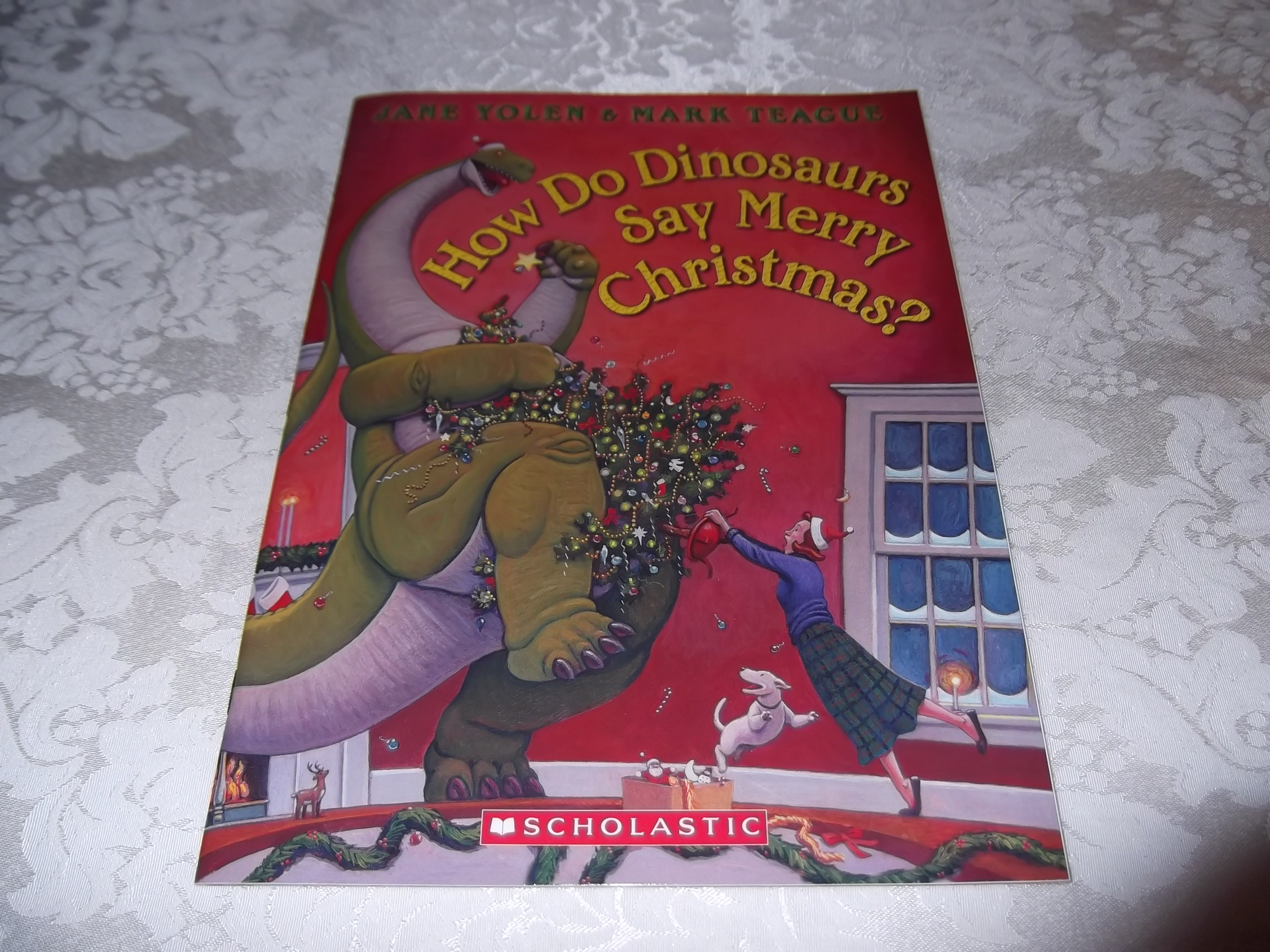 How Do Dinosaurs Say Merry Christmas? Jane Yolen Mark Teague Brand New Softcover