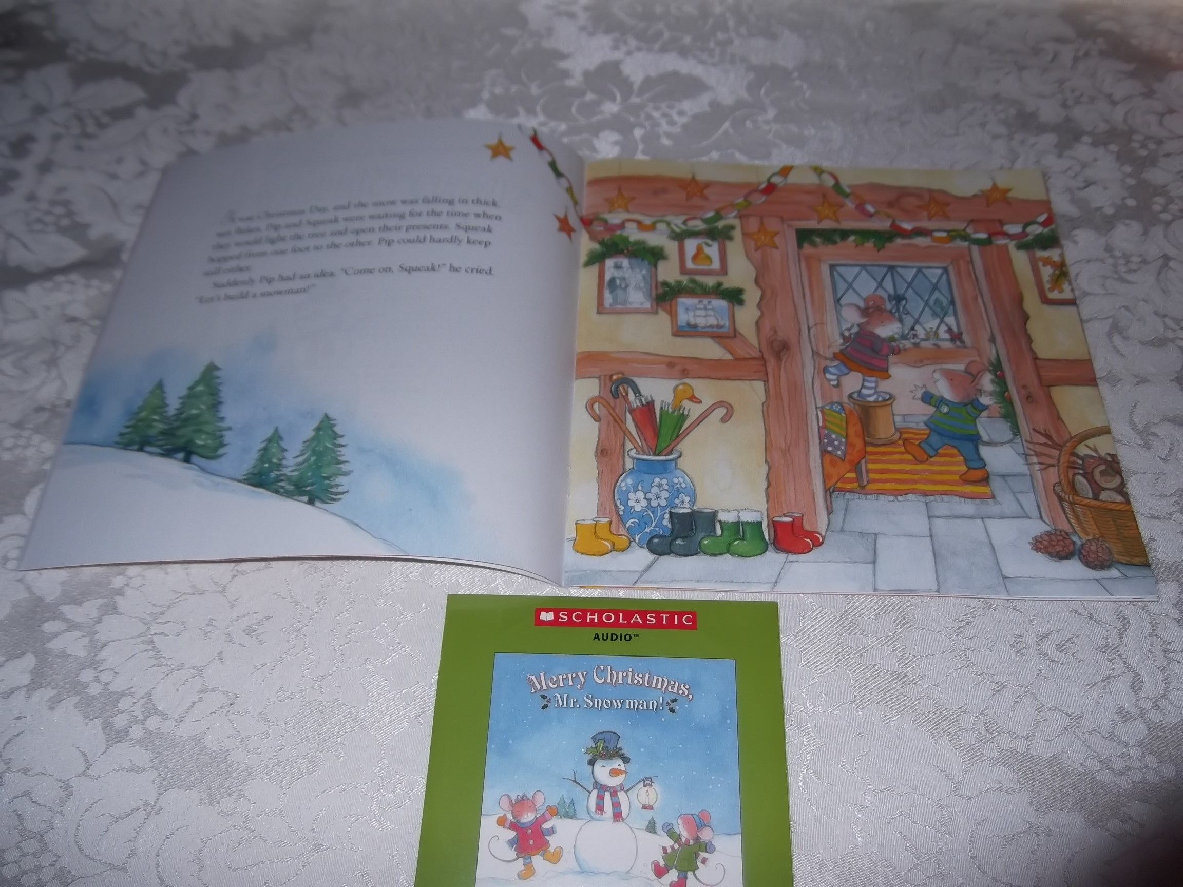 Image 1 of Merry Christmas, Mr. Snowman! Wolfram Hanel Audio CD and SC Brand New