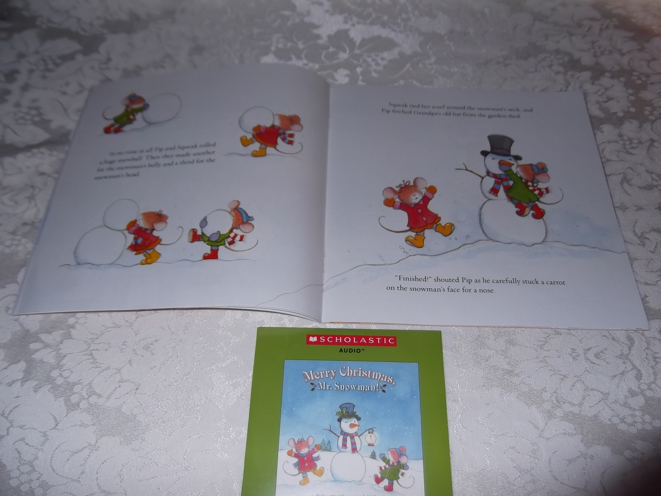 Image 2 of Merry Christmas, Mr. Snowman! Wolfram Hanel Audio CD and SC Brand New