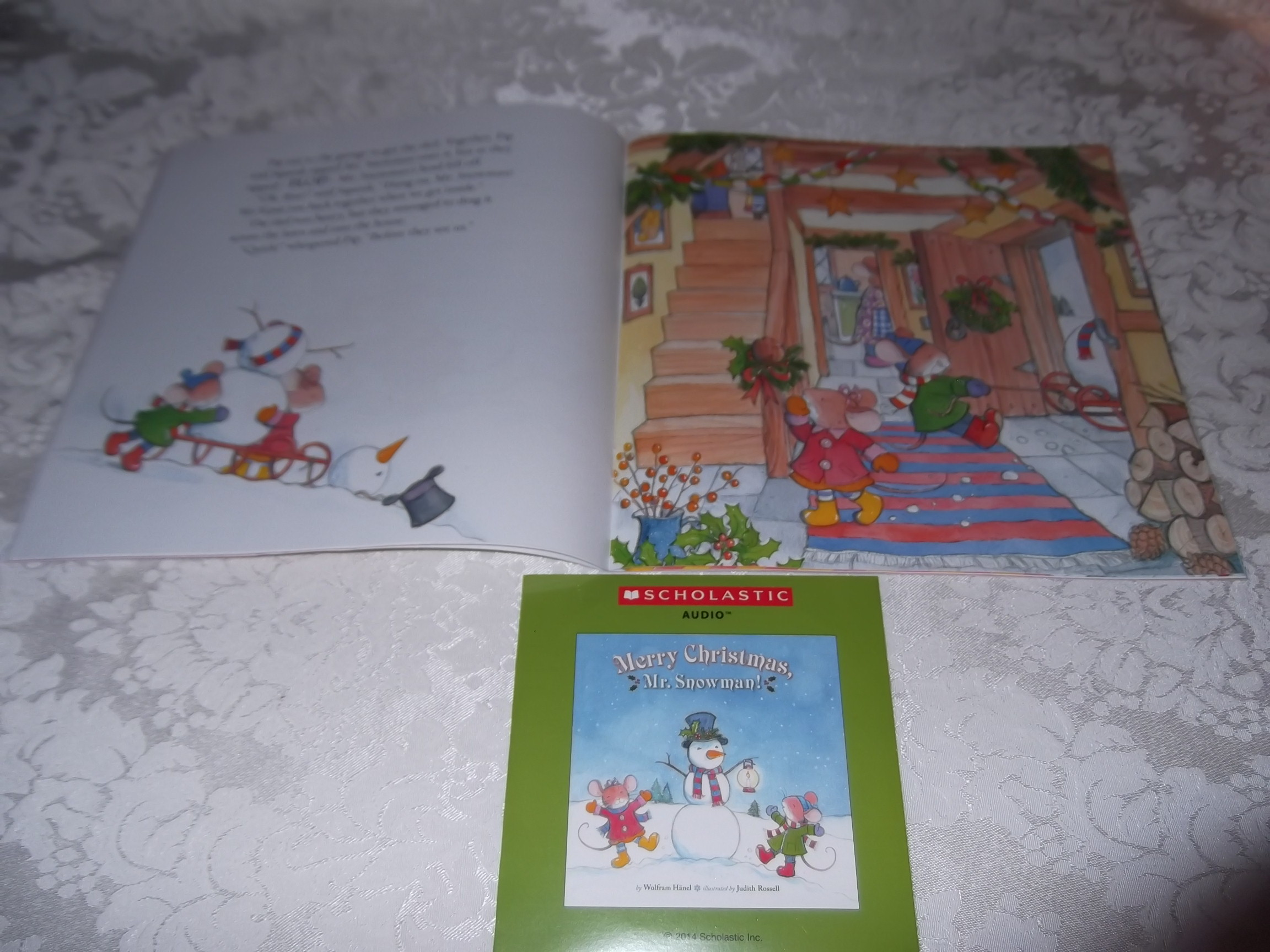 Image 3 of Merry Christmas, Mr. Snowman! Wolfram Hanel Audio CD and SC Brand New