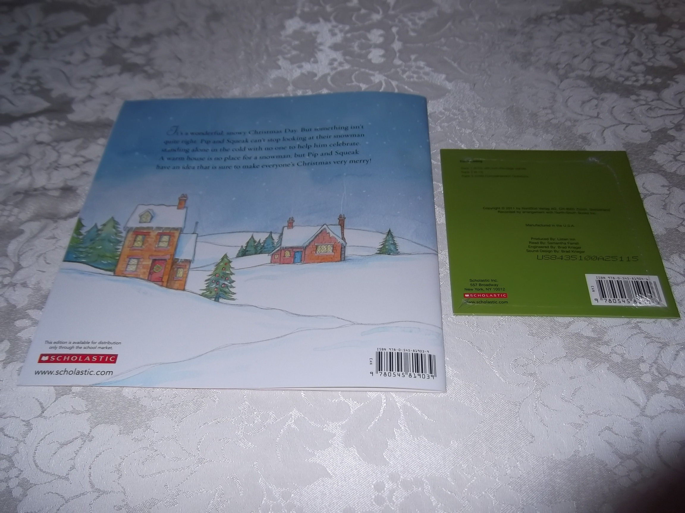 Image 7 of Merry Christmas, Mr. Snowman! Wolfram Hanel Audio CD and SC Brand New