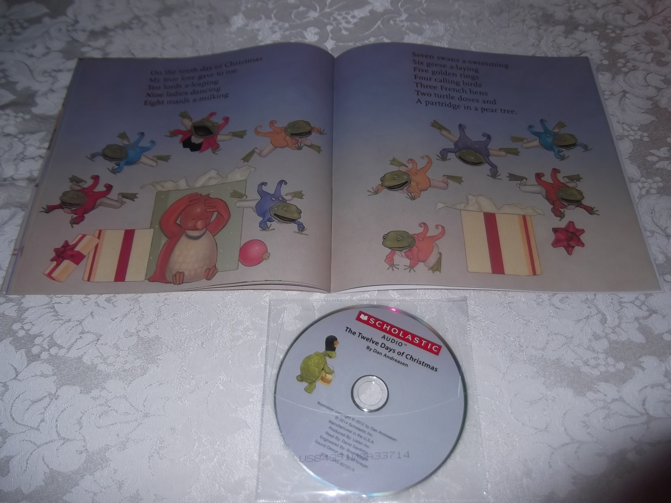 Image 3 of The Twelve Days of Christmas Dan Andreasen Audio CD and SC Brand New