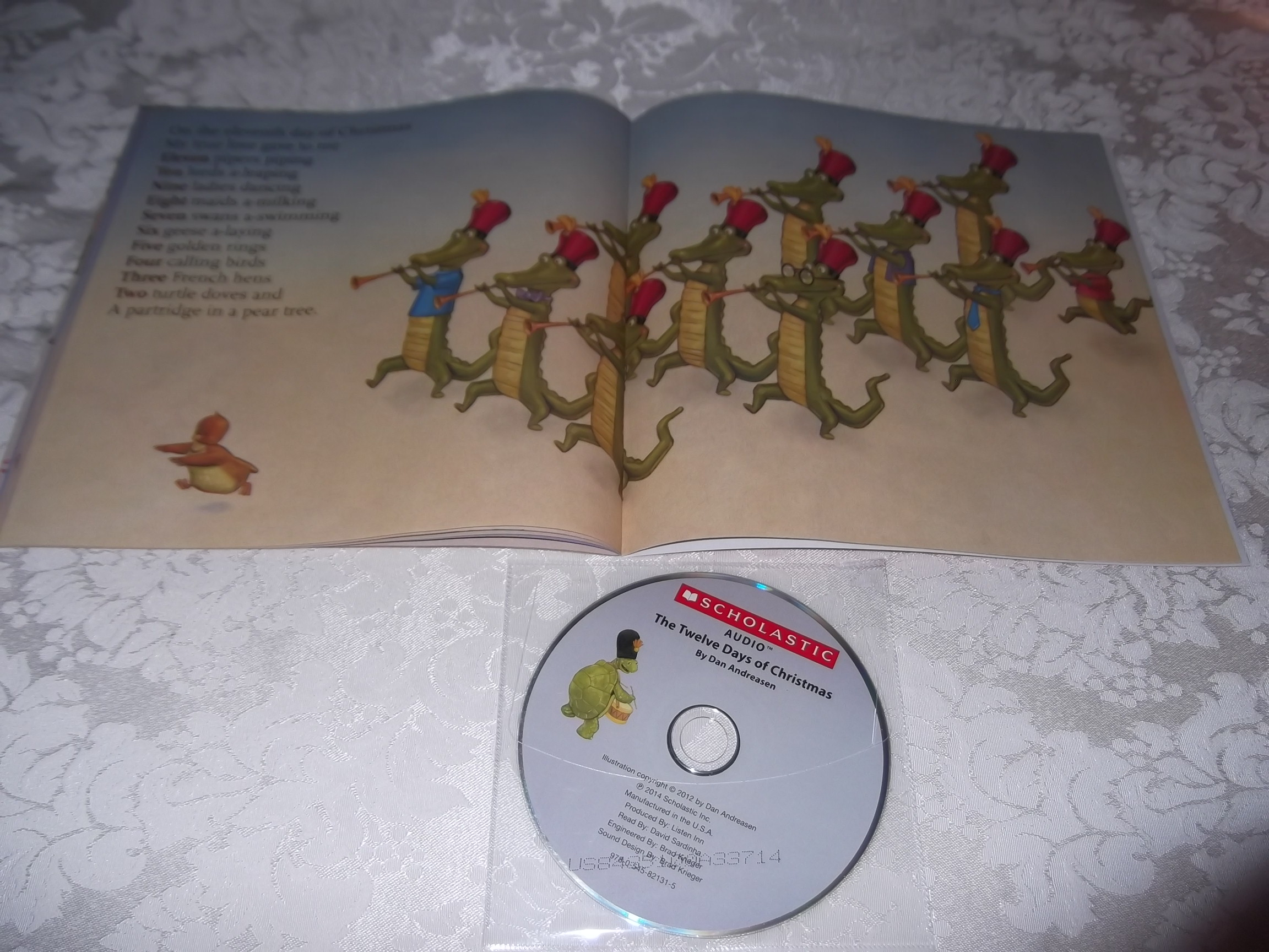 Image 2 of The Twelve Days of Christmas Dan Andreasen Audio CD and SC Brand New