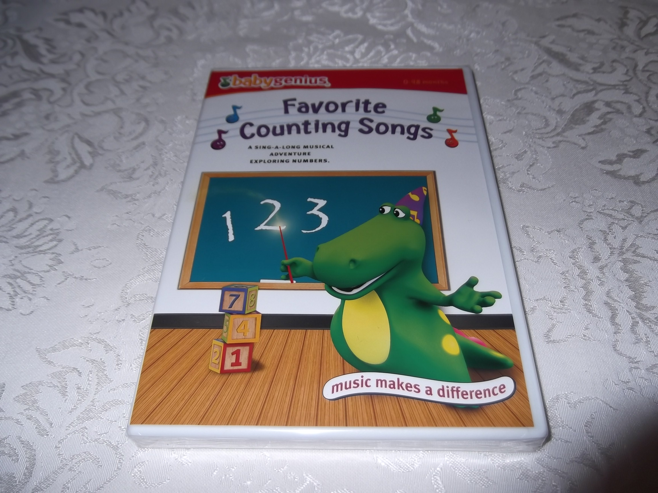 Baby Genius Favorite Counting Songs DVD 0-48 Months Brand New & Sealed