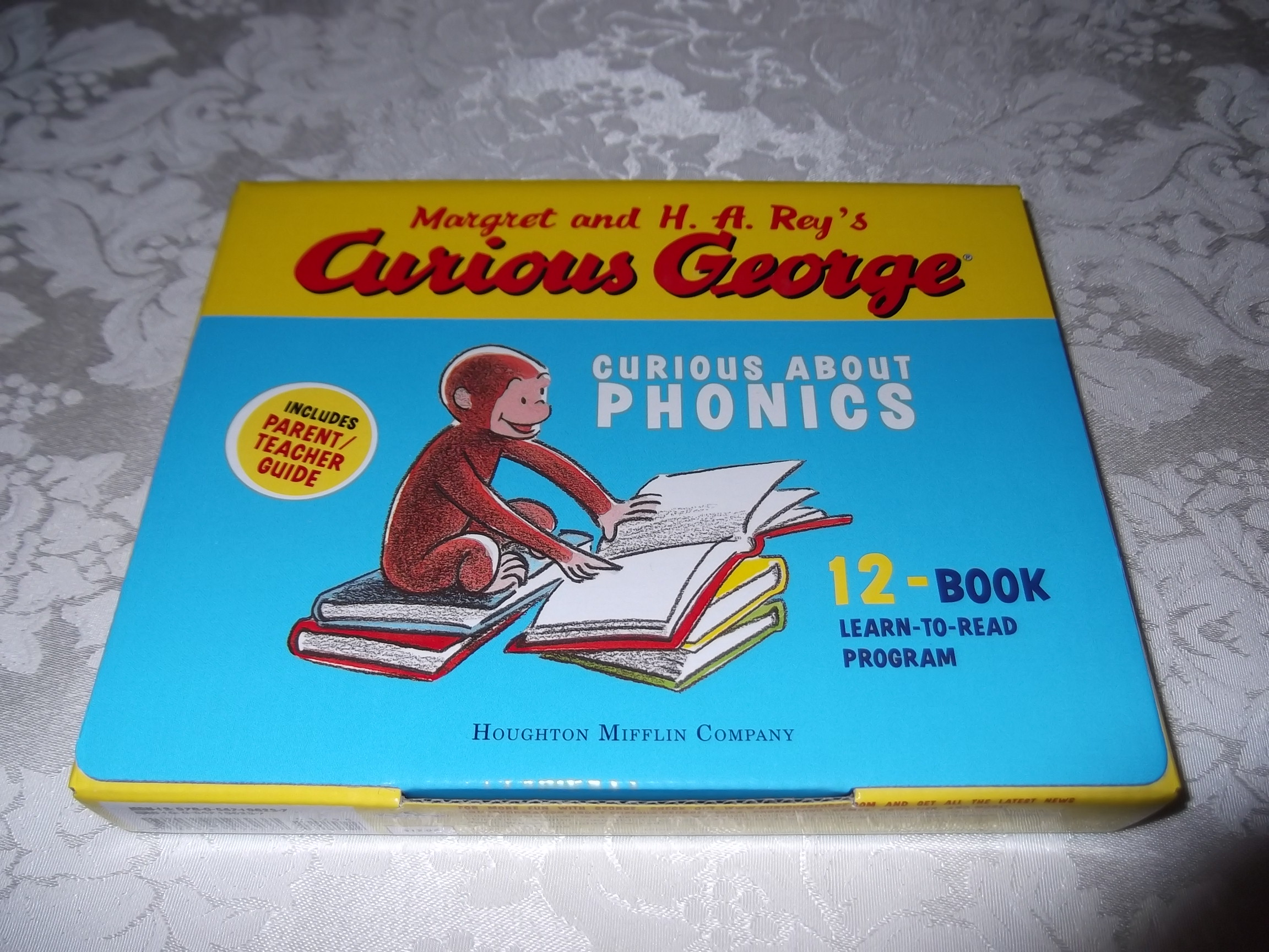 Curious George Curious About Phonics Learn to Read 12 Book Box Set K-1 New