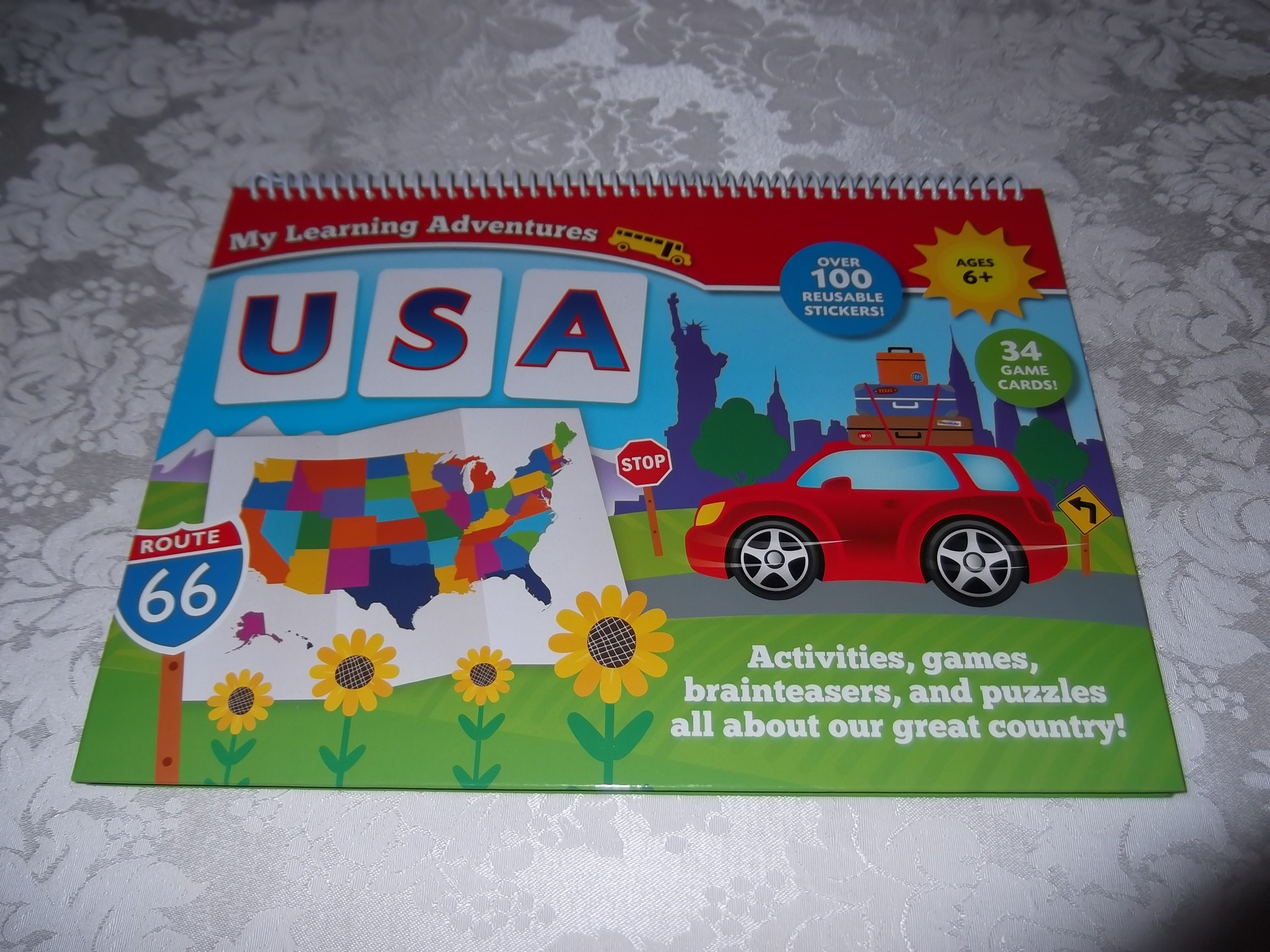 My Learning Adventures USA Ages 6+ Brand New HC Nonfiction Activities 50 States