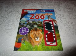 Discovery Kids Incredible Zoo 3D Sticker Fun 50+ Stickers with Glasses Brand New
