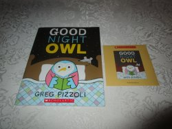 Good Night Owl Greg Pizzoli Brand New, Sealed Audio CD and Softcover