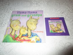Llama Llama Gram and Grandpa Anna Dewdney Brand New, Sealed Audio CD & Softcover