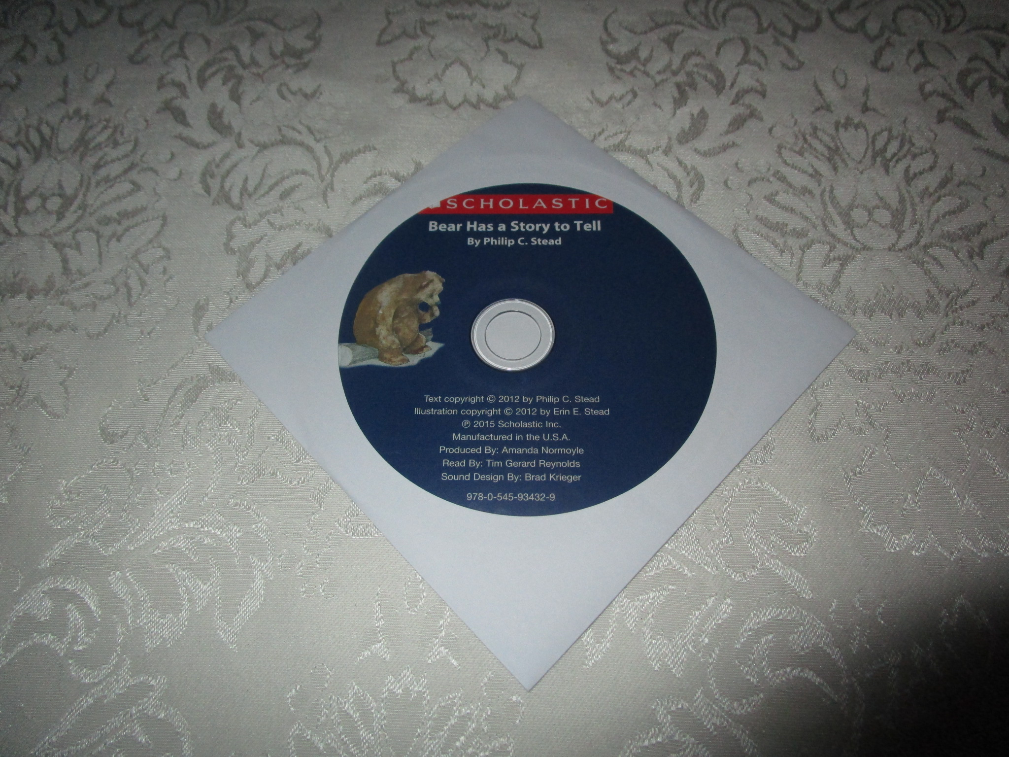 Bear Has a Story to Tell Philip C. Stead Audio CD ONLY Brand New