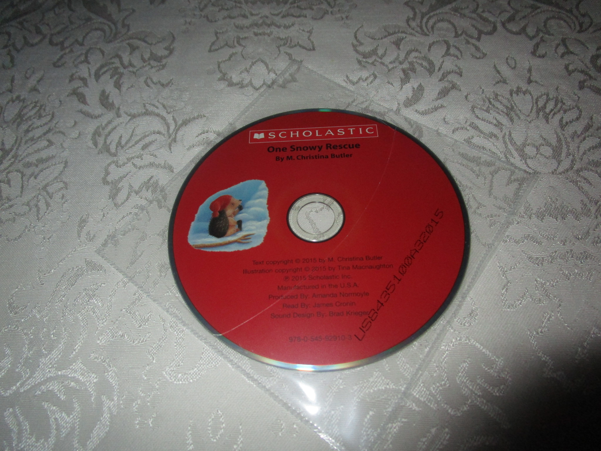 One Snowy Rescue M. Christina Butler Audio CD ONLY Brand New