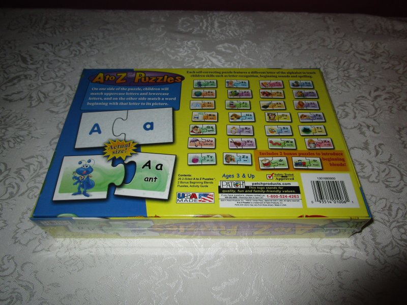 Image 1 of A to Z Puzzles Match Ups PATCH Brand New and Sealed