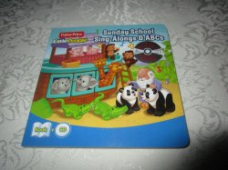 Sunday School Sing-Alongs & ABCs Board Book with CD Fisher Price Little People