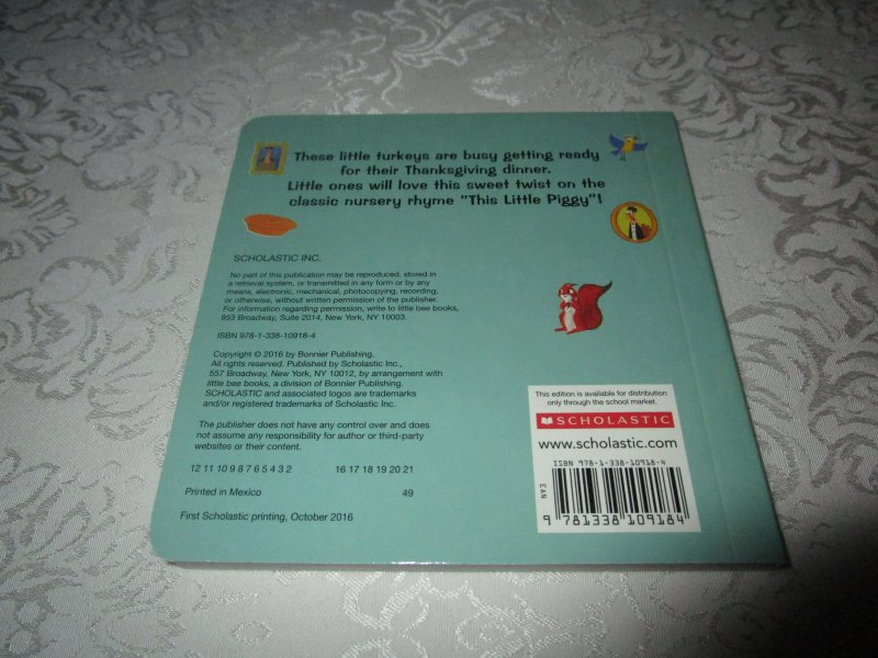 Image 8 of This Little Turkey Aly Fronis Brand New Board Book