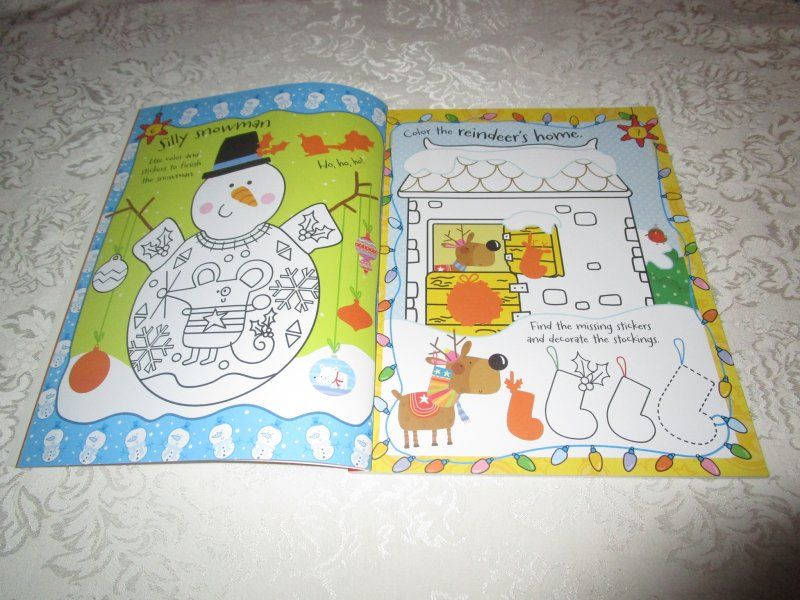 Image 1 of Winter Wishes Christmas Sticker Activity Book 300+ Stickers Brand New