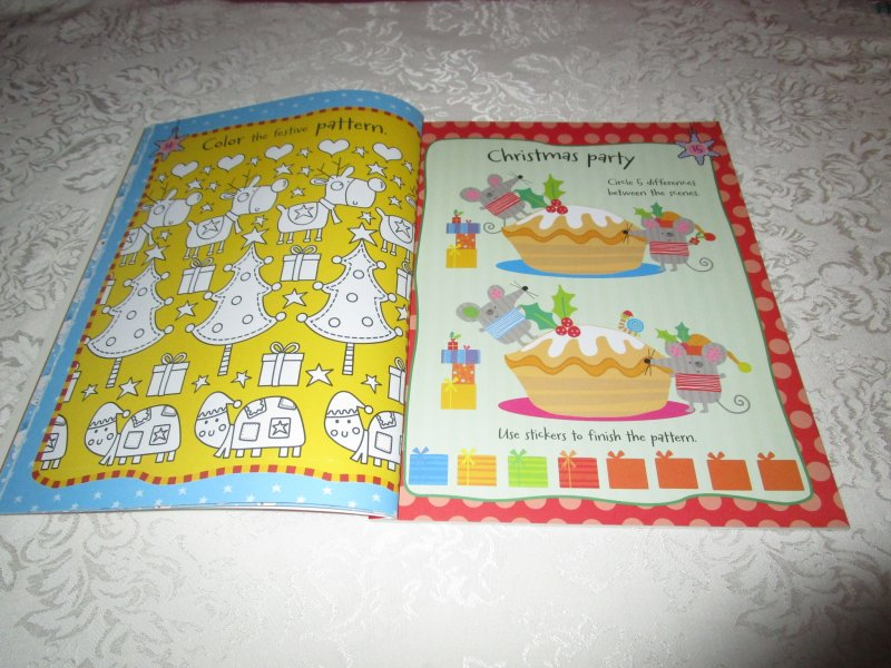 Image 2 of Winter Wishes Christmas Sticker Activity Book 300+ Stickers Brand New