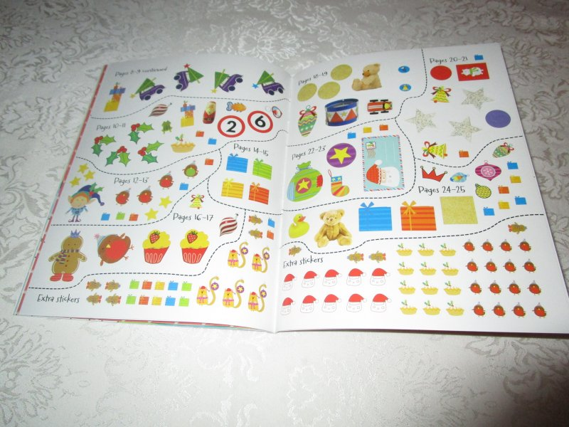 Image 4 of Winter Wishes Christmas Sticker Activity Book 300+ Stickers Brand New