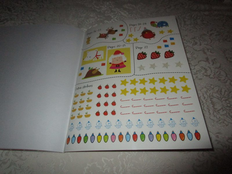 Image 5 of Winter Wishes Christmas Sticker Activity Book 300+ Stickers Brand New