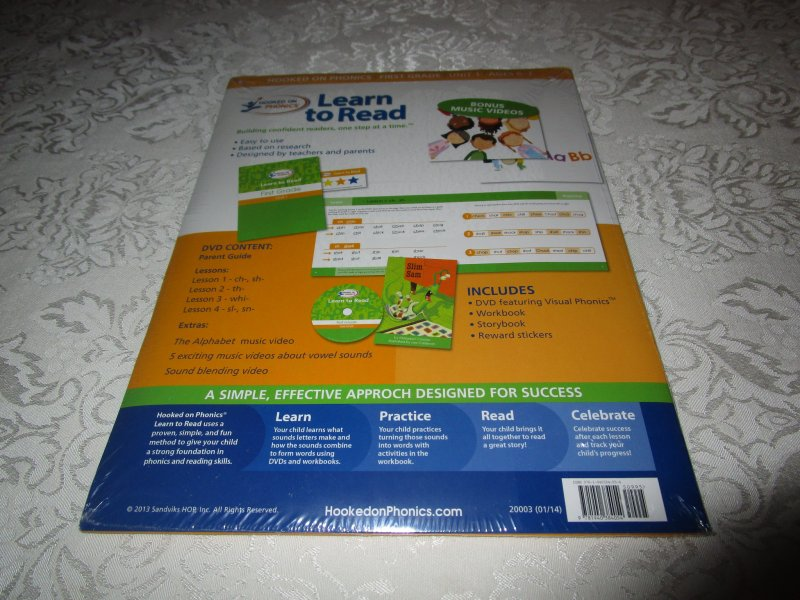 Image 1 of Hooked On Phonics Learn to Read First Grade Unit 1 Brand New & Sealed