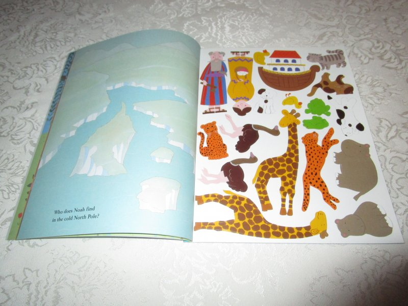 Image 4 of Noah's Ark Julie Lacome Sticker Stories with 75+ Reusable Stickers Brand New