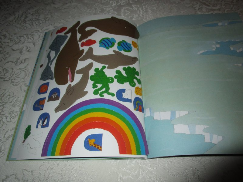 Image 7 of Noah's Ark Julie Lacome Sticker Stories with 75+ Reusable Stickers Brand New